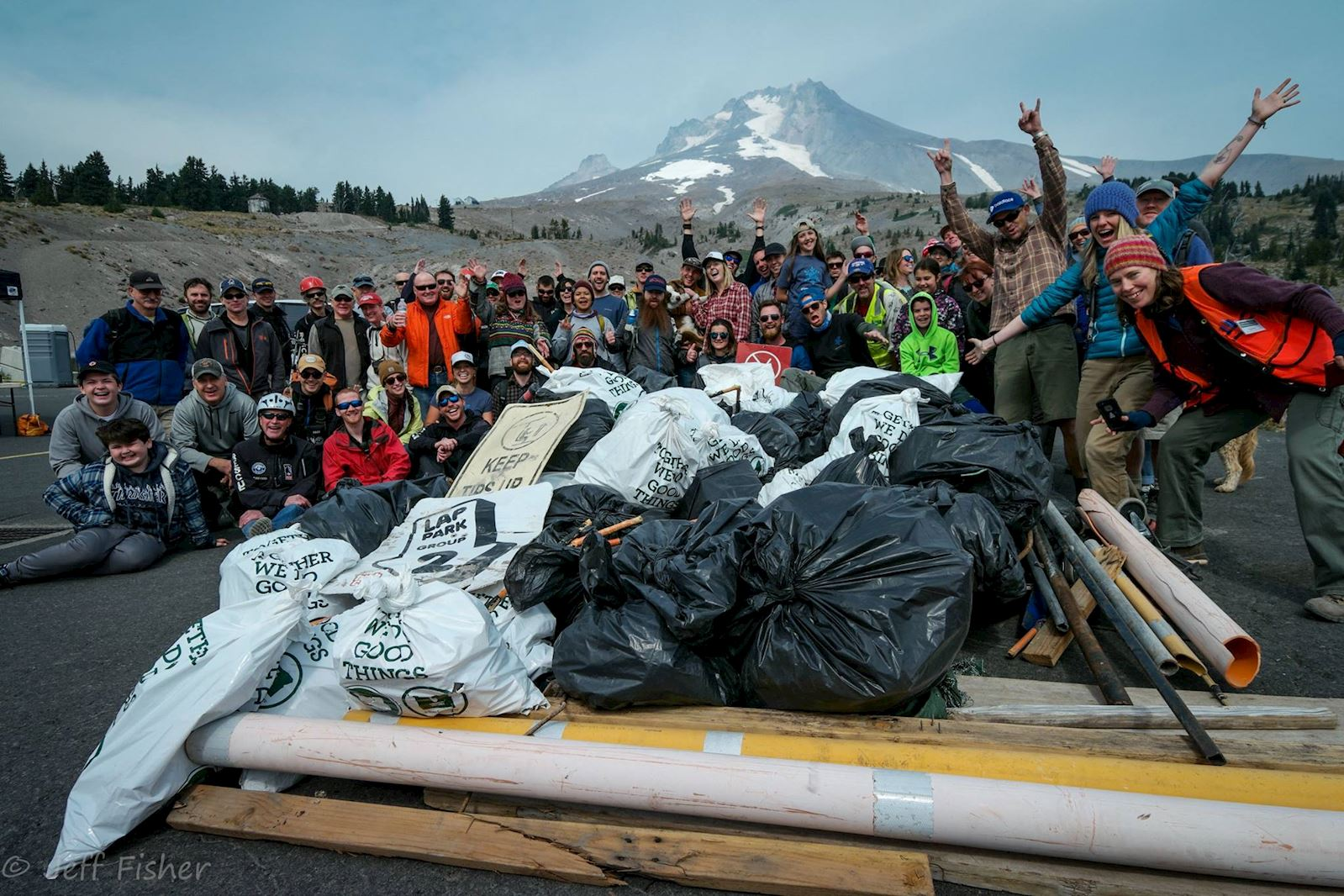 Salmon Headwaters Clean Up at Timberline Lodge