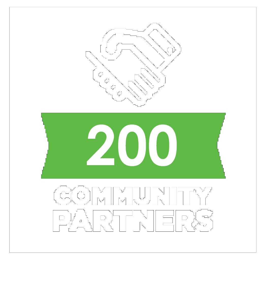 200 community partners