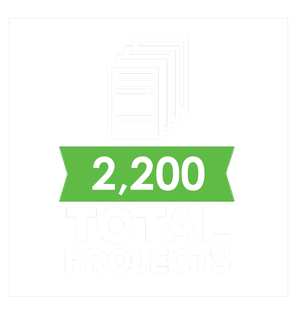 2,200 total projects