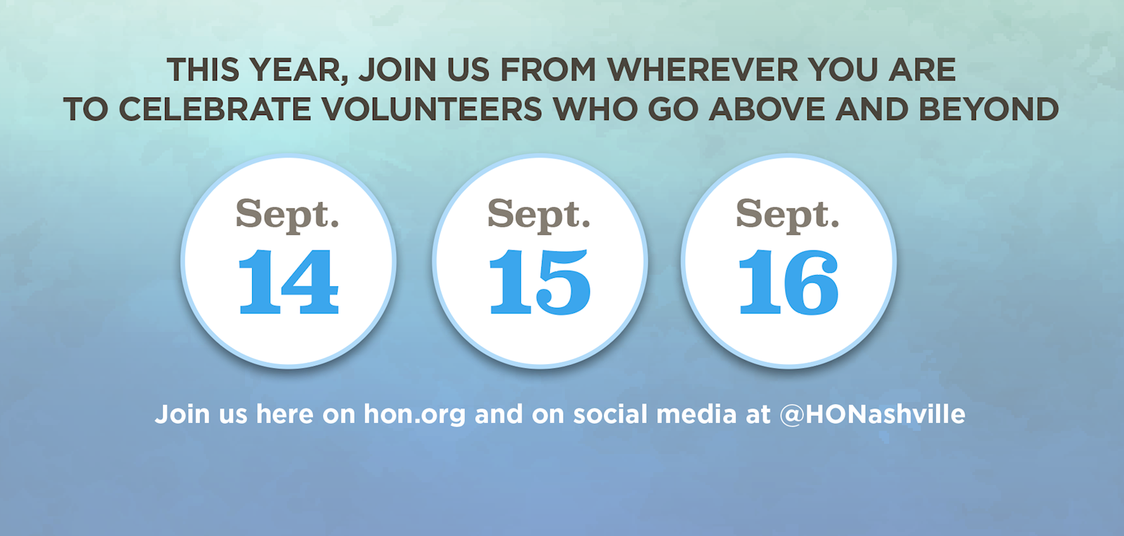 Join us at hon.org on Sept. 14, 15, and 16!