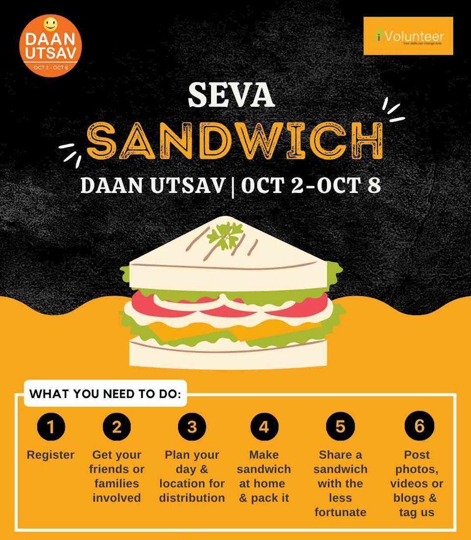 Seva Sandwich @ Daan Utsav 2021