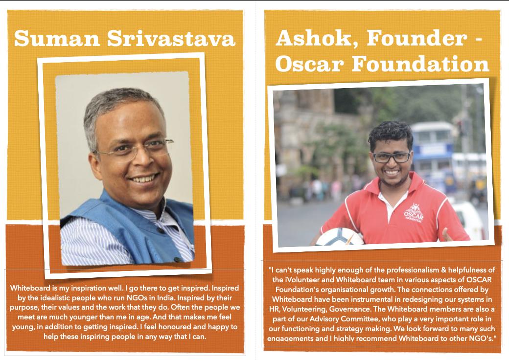 Volunteer testimonial from Suman Srivastava & Ashok, Founder - Oscar Foundation
