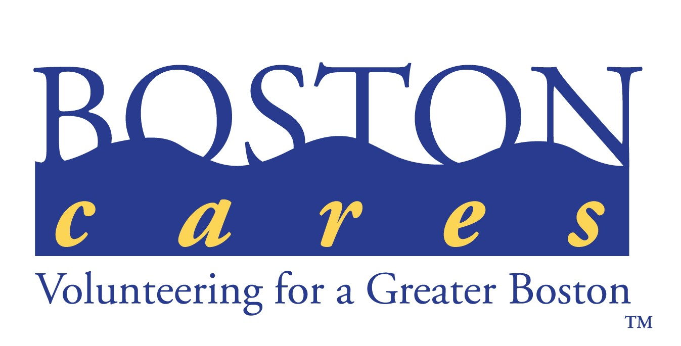 Boston Cares Logo, goes to Boston Cares list of volunteer opportunities page.