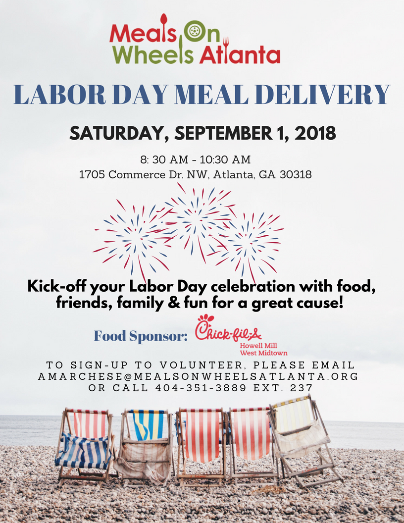 Handson Atlanta Labor Day Weekend Meal Delivery