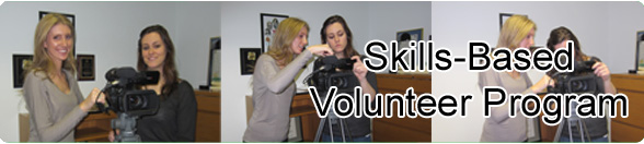 Skills-Based Volunteers filming at an agency in NJ