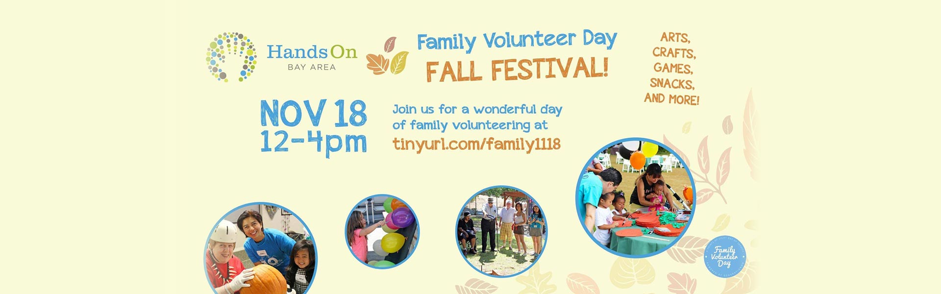 family volunteer day fall festival