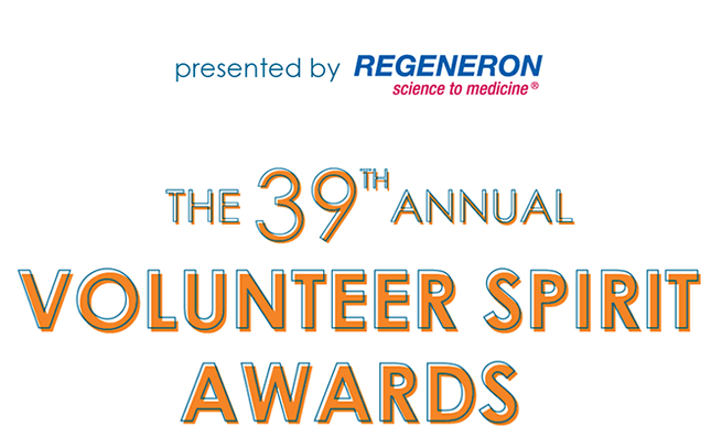 Volunteer New York! Invites you to the 39th Annual Volunteer Spirit Awards Presented By Regeneron on Friday, April 5, 2019 in Tarrytown, New York