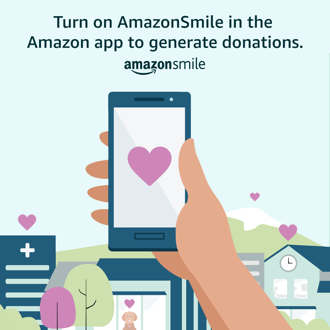 Turn on AmazonSmile in the Amazon app to generate donations