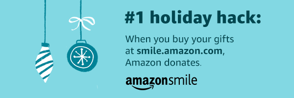 #1 holiday hack: When you buy your gifts at smile.amazon.com, Amazon donates.