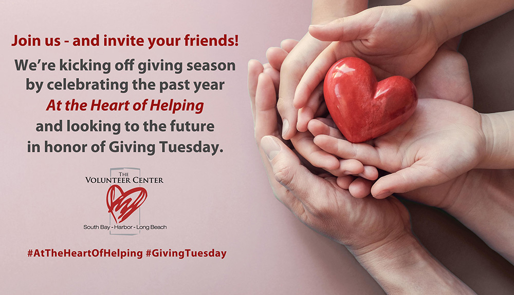 Join us - and invite your friends - as we kick off giving season in honor of Giving Tuesday!