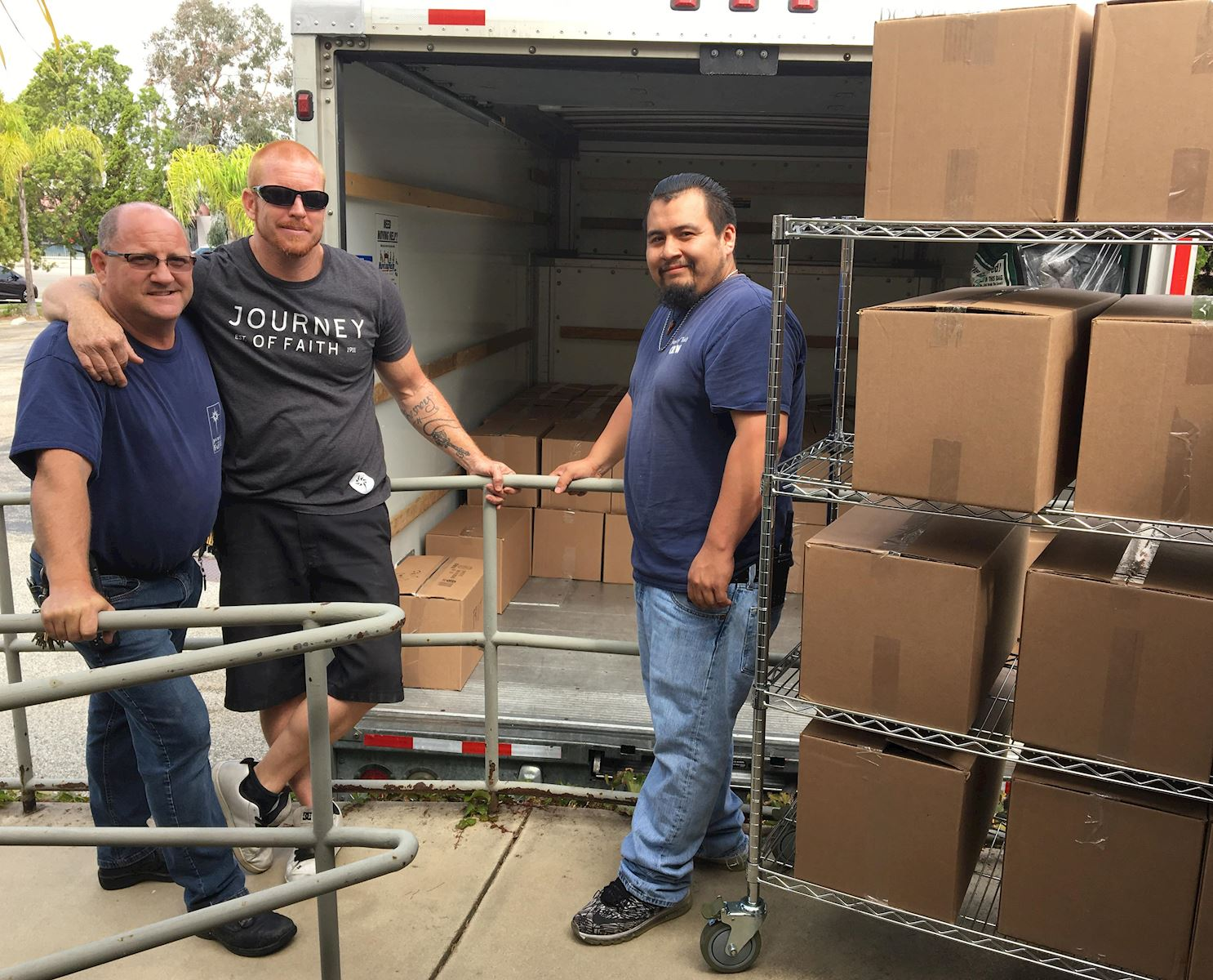 Journey of Faith delivers nearly 3,000 pounds of food