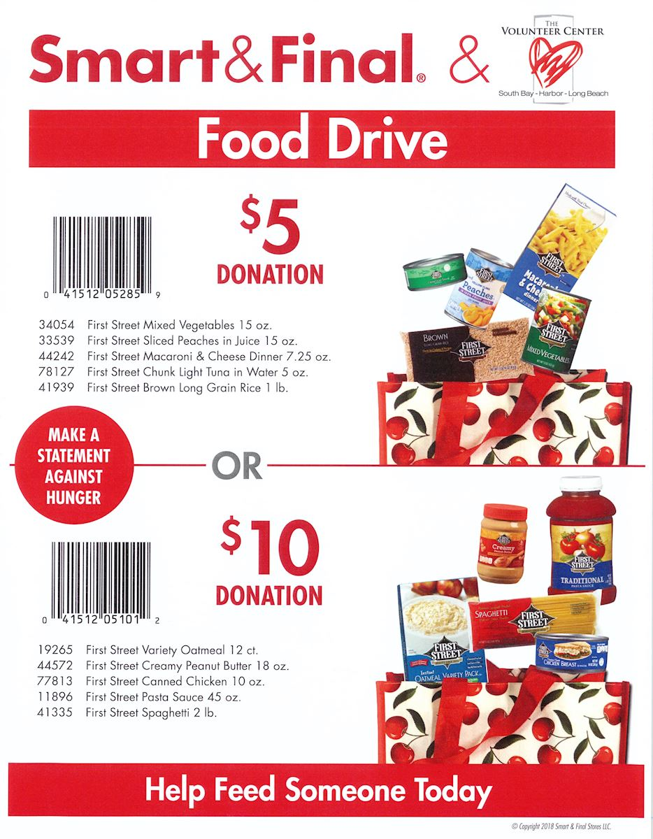 Smart & Final Food Drive for Food For Kids