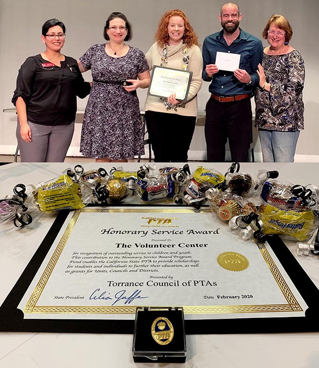Honorary Service Award from TCPTA