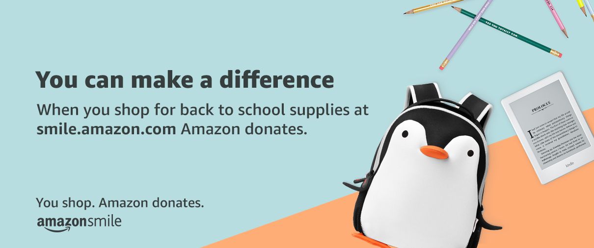When you shop for back to school supplies at smile.amazon.com Amazon donates.