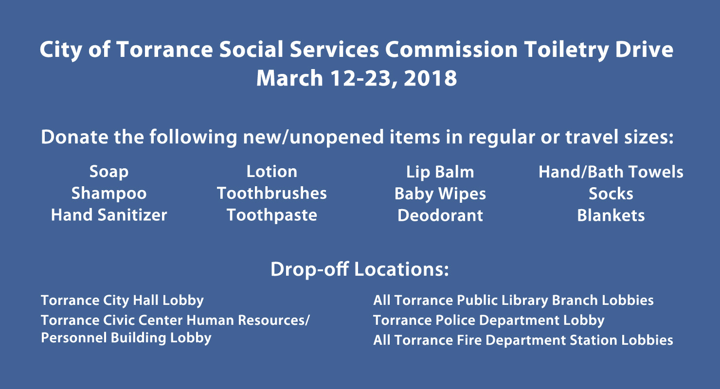 City of Torrance Toiletry Drive
