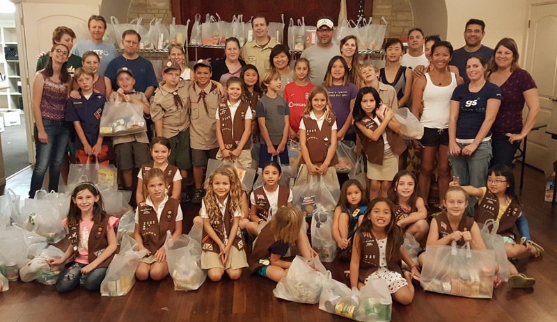 Food For Kids - Girl Scouts Food Packing
