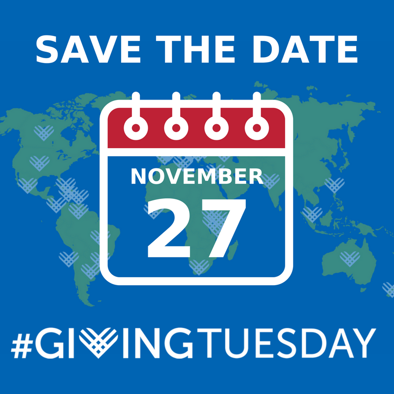 Save the Date for Giving Tuesday - Tuesday, November 27, 2018