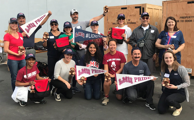 Operation Teddy Bear Packing - LMU Alumni
