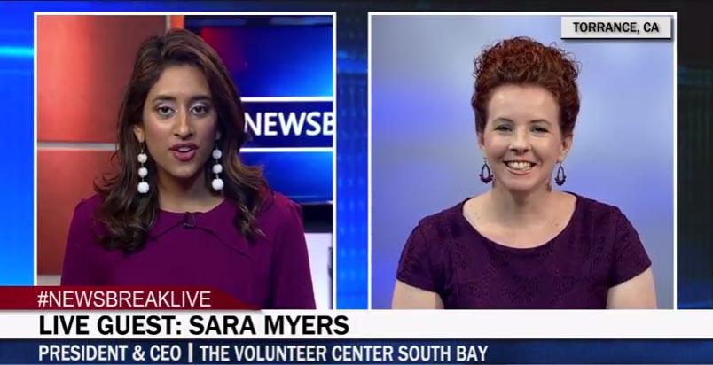 Volunteer Center Spotlighted on Newsbreak Live