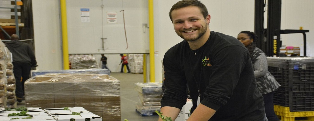 Volunteer at the Capital Area Food Bank distribution center